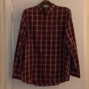 Chaps Red Checkered Button Down